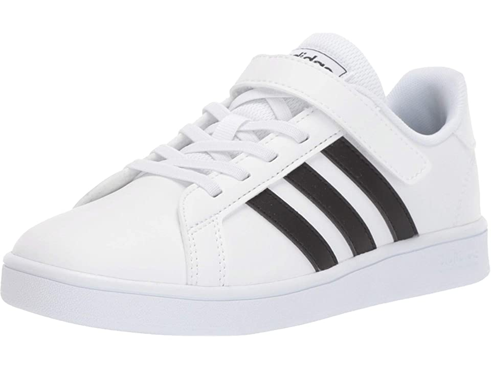 adidas Kids Grand Court (Little Kid) (Footwear WhiteCore BlackFootwear White) Kids Shoes