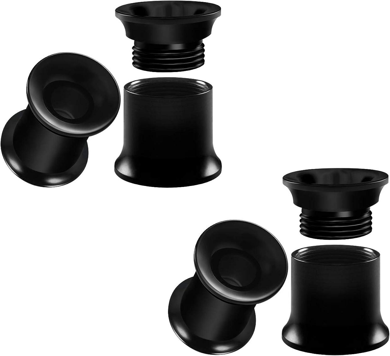 BIG GAUGES 2 Pairs Acrylic Internally Threaded Double Flared Saddle Piercing Jewelry Stretcher Ear Lobe Screw-fit Flesh Tunnel Plugs