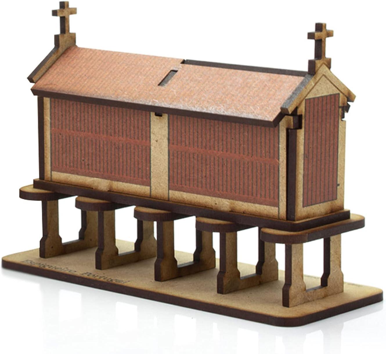 Traditional Portuguese Granary Espigueiro DIY 3D f Sales results No. 1 Las Vegas Mall Puzzle Wooden