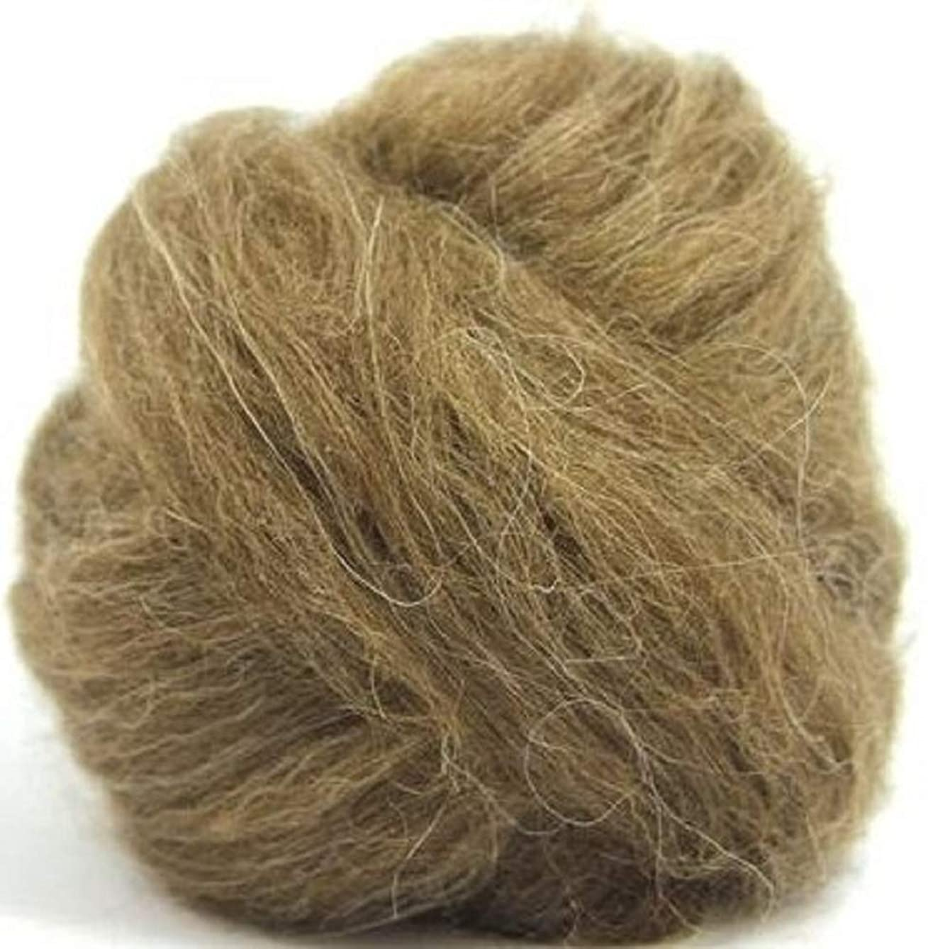 4 oz Paradise Fibers Icelandic Wool Top - Brown - Perfect for Woolen Yarn & Needle Felting
