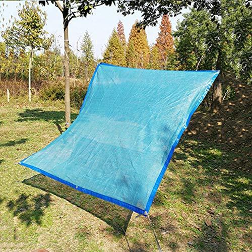 Shade net LCYXM 70% UV-schaduwdoek blauw premium mesh sh-shadecloth shhading net voor patio-tuin overkapping, zwembaden buitenshuis in kleur zand