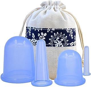 Echo & Kern Silicon massage cups 4 pcs スキンケア シリコン 4個セット カッピング療法 顔 首 締める 痩せる E顔色改善 コラーゲン刺激 しわ減少