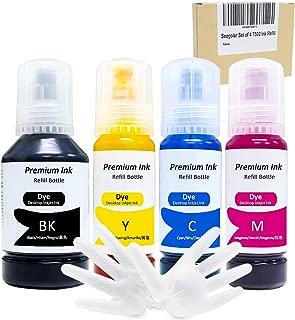 seogolar Compatible T502 Ink Bottle Replacement for Epson 502 Refill Ink for ET-2700 ET-2750 ET-3700 ET-3750 ET-4750 ST-2000 ST-3000 ST-4000 ET-7750 ET-7700, 127ml Black, 70ml CMY(4 Pack)