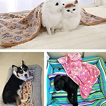 Demarkt Couverture souple pour chien chat couverture Animal Chien Chat Animal Doux Chaud sommeil tapis motif c