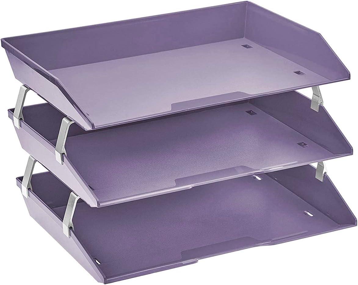 Deluxe Acrimet Facility 3 Tier Letter Tray Load Side Desktop Fi Plastic Denver Mall