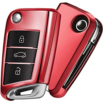 OATSBASF Funda para Llave VW, Funda Llave VW Golf 7-3 Botones para ...