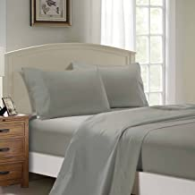 1000TC Ultra SOFT Sheet Set (Flat sheet & Fitted sheet & 2 Pillowcases) (Double Size Bed, Grey)