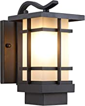 Outdoor Lighting fixtures Wall Mount,Outdoor Wall Sconce Waterproof Outdoor Wall Lantern,Black Finish with Frosted Glass for Garage Driveway Patio/Porch