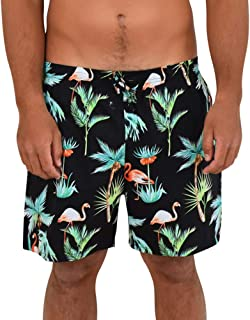 ISLAND STYLE CLOTHING Mens Cotton Shorts Party Prints Hawaiian Style Casual Cruise