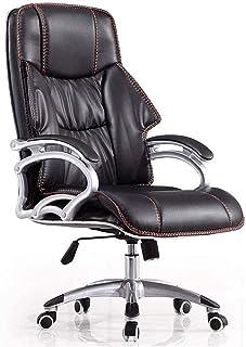 PWV كرسي الكمبيوتر دوارة، وظيفة إمالة العودة شنطة مسند الذراع بات الجلود الحشو مكتب مكتب التنفيذي