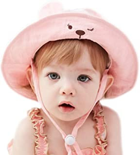 GZMM Baby Girls Sun Protection Hat Cotton Breathable Material UPF50+