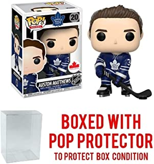 POP! Sports NHL Auston Matthews Toronto Maple Leafs Canada Exclusive Action Figure (Bundled with Pop Box Protector to Protect Display Box)