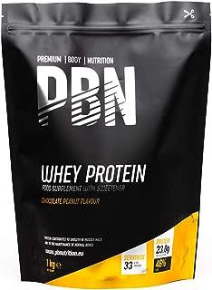 PBN - Proteína de suero en polvo, 1 kg (sabor a mantequilla de maní)