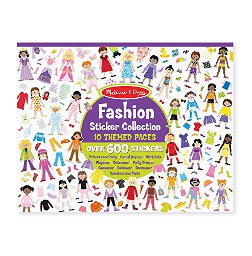 Melissa & Doug Sticker Collection Book - Fashion (600+ Stickers)