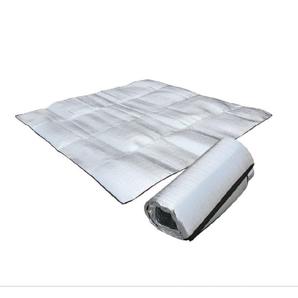 Mible 迈博 双人加厚铝膜防潮垫 1.5M/2M 两个规格 双面 防潮 防水 优质铝膜 露营野餐垫爬行垫 帐篷防潮垫 户外运动装备 送收纳袋