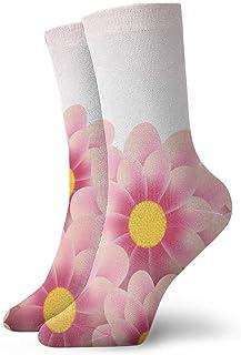 tyui7, Calcetines de compresión antideslizantes de flores florales rosas decorativas Calcetines deportivos acogedores de 30 cm para hombres, mujeres, niños