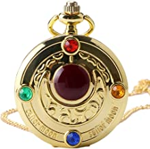 Girl Pocket Watch, Retro Colorful Anime Sailor Moon Series Women Pocket Watch, Gift for Men