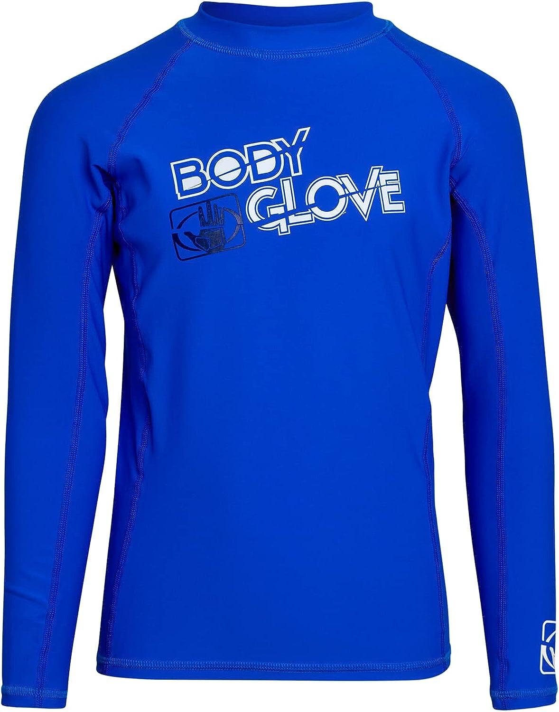 Body Glove Regular discount Boys' Rash Guard Shirt Sun Ranking TOP6 Swim - +50 UPF Protection