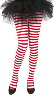 Women's Striped Tights Opaque Microfiber Stockings Nylon Footed Pantyhose