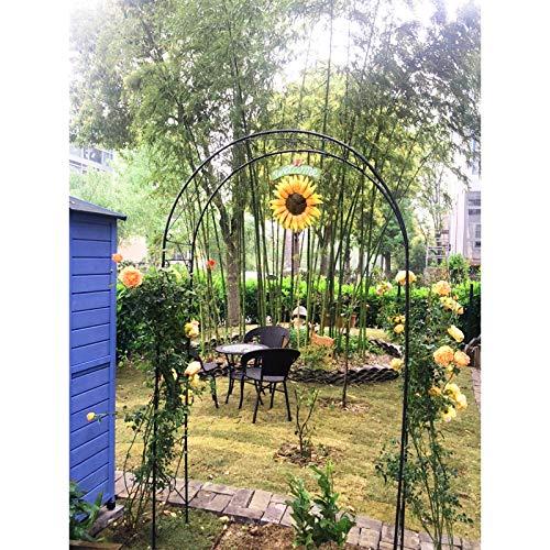 AAQQ Rosenbogen aus Metall, Eisenpergola, Gartenbogen im Freien, Metallrosenbögen, 110 cm X 38 cm X 240 cm, Gartenlaube für Kletterpflanzen, Hochzeitsdekoration.