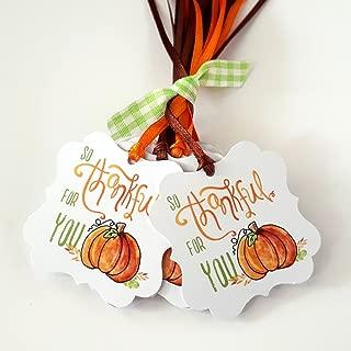 pumpkin favor tags