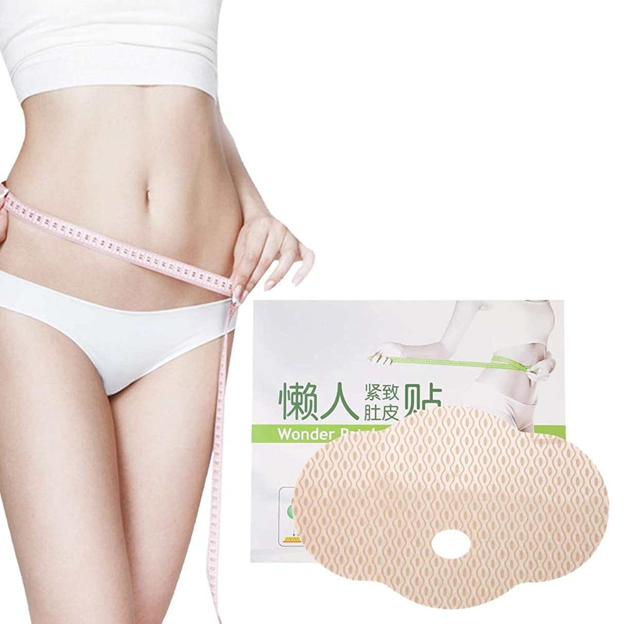 TMISHION Slimming Patch, 3pcs Waist Belly Shape Pad Stick Body Detox Delicate Firming Tighten Skin Health Care Product