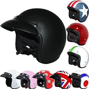 White S 55-56cm Leopard LEO-608 Double Sun Visor Open Face Motorbike Motorcycle Helmet Road Legal