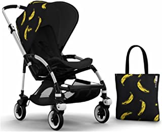 Bugaboo Bee 3 Stroller With Black Seat and Andy Warhol Accessory Kit (Banana/Black)