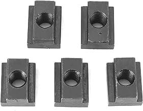 Tuercas de Ranura en T Tuercas de Corredera en T Tuercas de Acero 45 M8 / M10 para Máquinas Tablas Herramientas 5pcs(M8)