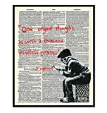 Banksy Motivational Inspirational Dictionary Art Print, Upcycled Graffiti Wall Art Poster - Chic Home Decor for Bedroom, Teens Room, Office, Family Room, Classroom, Dorm - Gift for Graduation, 8x10