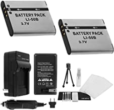 LI-50B Battery 2-Pack Bundle with Rapid Travel Charger and UltraPro Accessory Kit for Select Olympus Cameras Including SZ-14, SZ-15, SZ-16, Tough TG-610, and TG-620