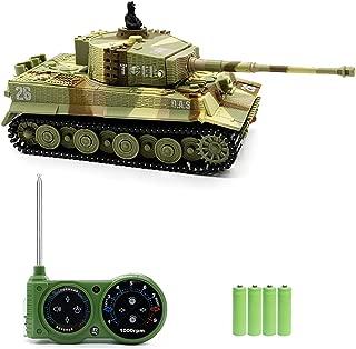 ラジコン戦車 RCリモコンおもちゃタンク 1/72 履帯 旋回砲塔 シューティング効果 人気 子供の贈り物(砂漠迷彩)