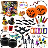 AY 150 Pcs Halloween Toys Assortment for Kids Halloween Party Favors, Classroom Rewards, Trick or Treating, Halloween Toy Prizes