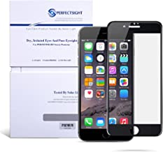 PERFECTSIGHT Screen Protector Compatible iPhone 7, iPhone 8, 55% Anti Glare, Blue Light Filter, Anti Fingerprint Tempered Glass