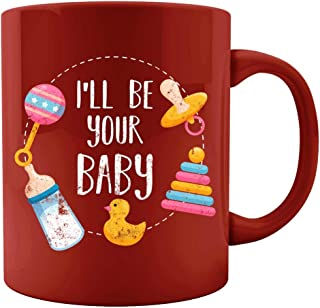 I ll be your Baby DDLG ABDL Bottle Love Pacifier Duck Rattle Toy Design - Colored Mug