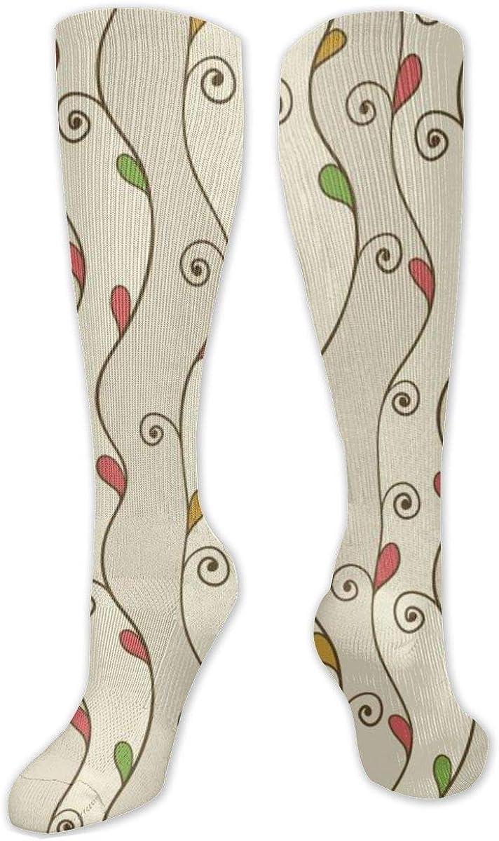 Vine Knee High Socks Leg Warmer Dresses Long Boot Stockings For Womens Cosplay Daily Wear
