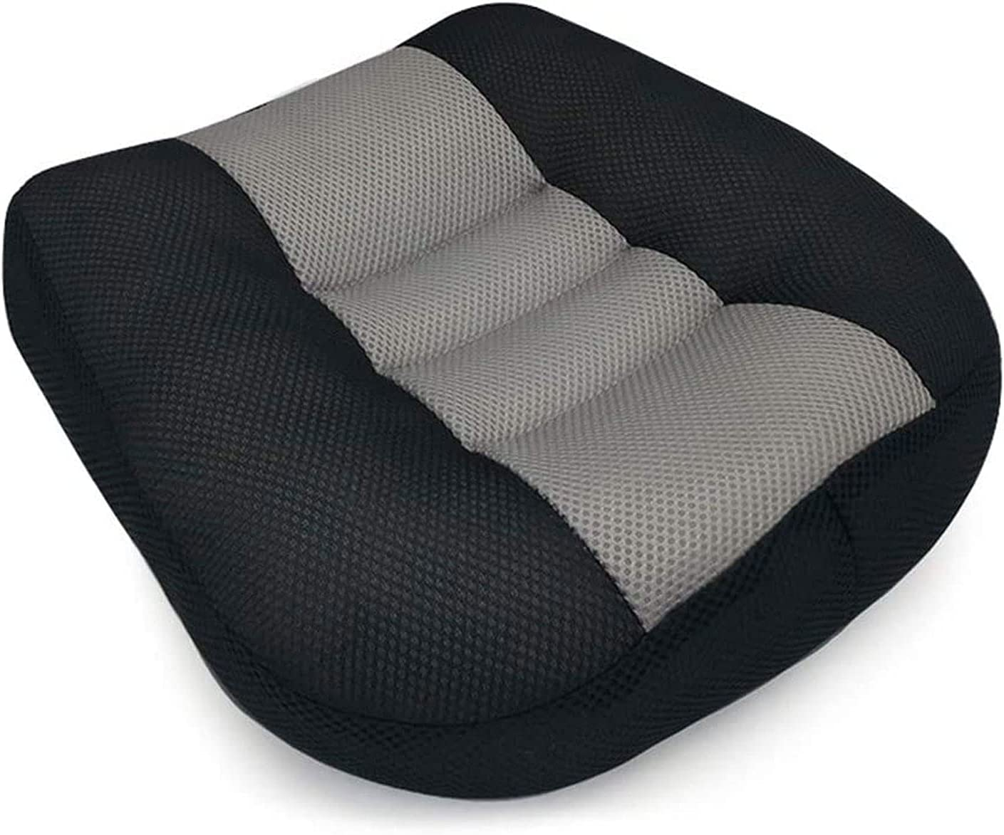 Car Booster Seat for Driver Adult Cushions Heightening Height Boost Mat, Breathable Mesh Portable Adult Car Booster Seat for Short Drivers Ideal for Car, Office, Home (blackgray)