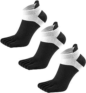 LOVARTS BEAUTY, 3 Pares Calcetines Dedos Hombres Calcetines de Deportes de Algodón, Calcetines de Cinco Dedos para Hombres