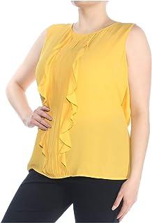1X, Ivory White Tahari ASL Women/'s Plus Size Flounce-Sleeve Charmeuse Top