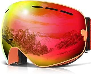 COPOZZ Ski Goggles, G1 OTG Snowboard Snow Goggles for Men Women Youth Anti-Fog UV Protection, Polarized Lens Available