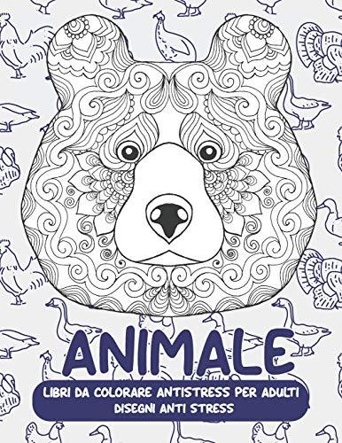 Libri da colorare antistress per adulti - Disegni Anti stress - Animale