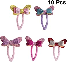 Uonlytech 10pcs Baby Snap Hair Clips Bowknot Metal Barrettes Kids Women Hair Accessories