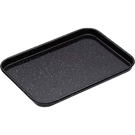 MasterClass Small Baking Tray, Scratch Resistant Vitreous Enamel and Induction Safe 1 mm Thick Steel, 24 x 18 cm