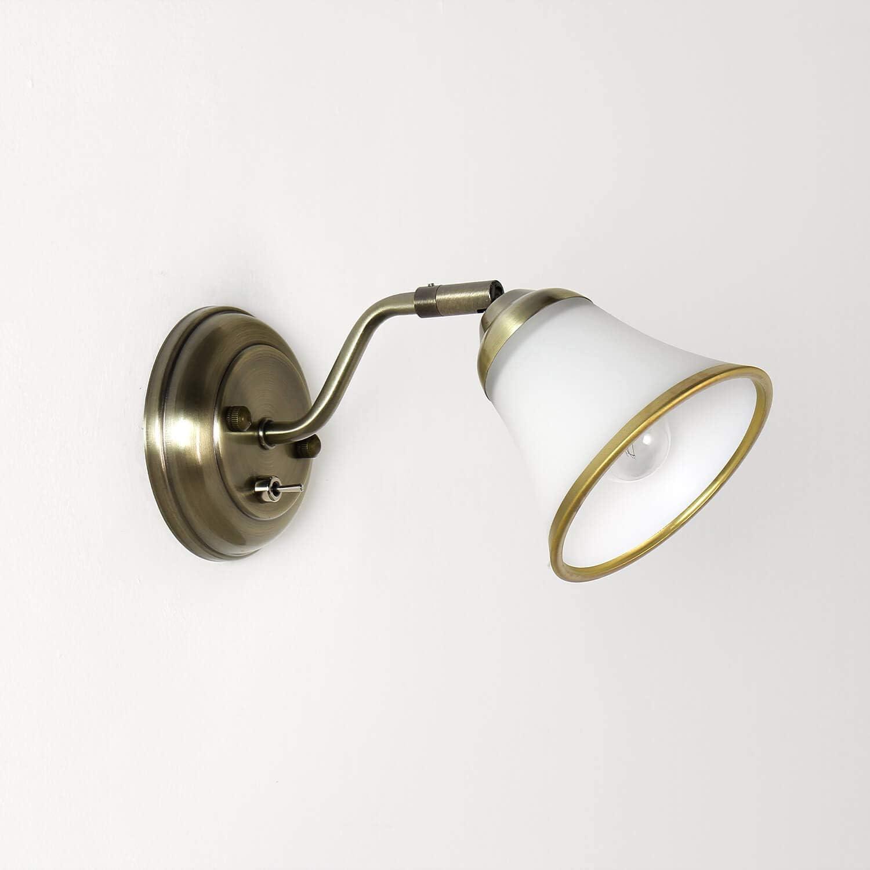 Dekorative Badleuchte Bronze Optik schwenkbar mit Schalter E20 ...