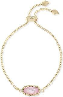 Kendra Scott Womens Elaina Bracelet Gold/Blush Dyed Ivory Mother-Of-Pearl One Size