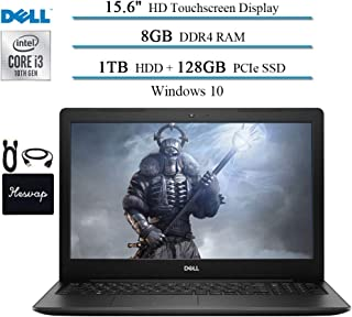"2020 Dell Inspiron 15 15.6"" Touchscreen Laptop for Business and Student, 10th Gen Intel i3-1005G1(Up to 3.4GHz,Beat i5-8250U), 8GB RAM, 1TB HDD + 128GB SSD, HDMI 802.11ac Win10 w/HESVAP Accessories"