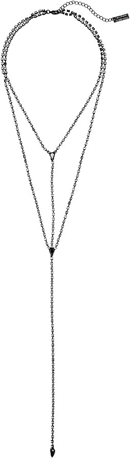 "Double Strand ""Y"" Shaped Rhinestone Necklace"