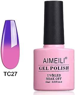 AIMEILI Soak Off UV LED Temperature Colour Changing Chameleon Gel Nail Polish - Dark Clouds (TC27) 10ml