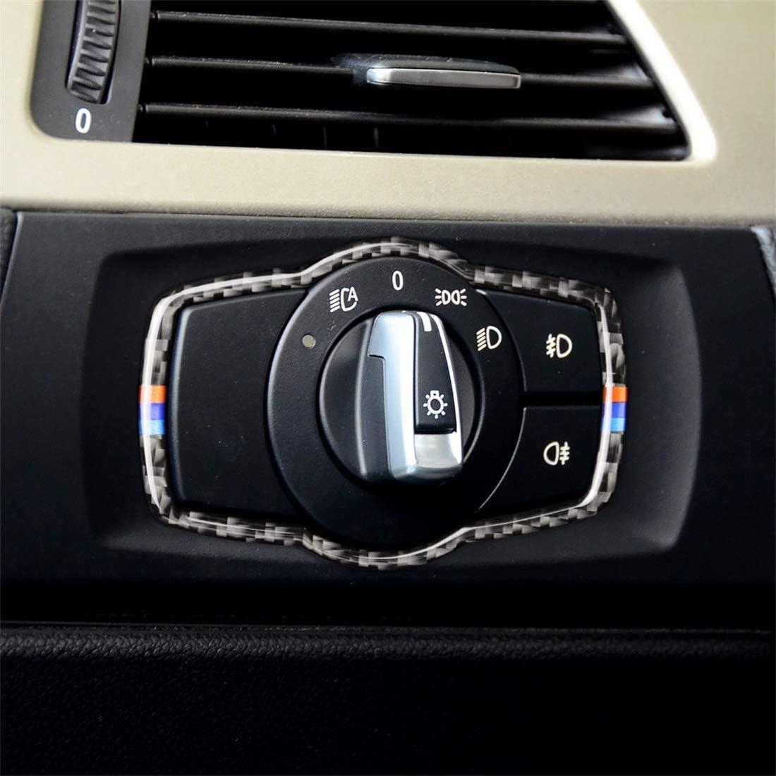 San Jose Mall FacoryyGGBC Car Accessories Three Brand new Headlig Color Carbon Fiber