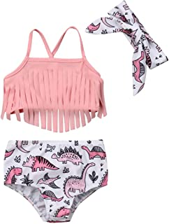 Sequins Tassel Shorts+Lace Bowknot Headband Summer Outfits Winsummer 3pc Baby Girl Print Romper